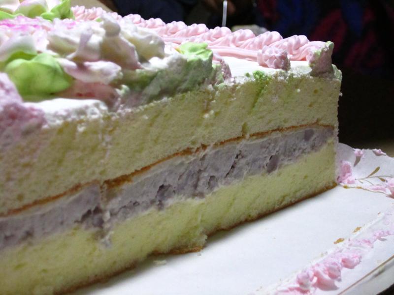 Taro Root Sponge Cake