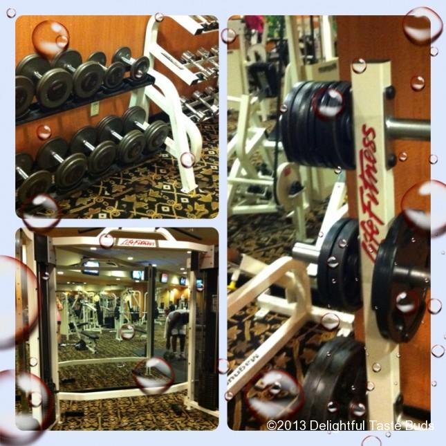 All I need are weights! While other peeps were hoarding the cardio treadmills, I hoard the weights!
