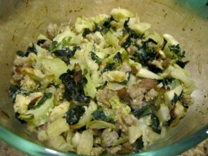 "Sausage and Veggies ""Stuffing"""