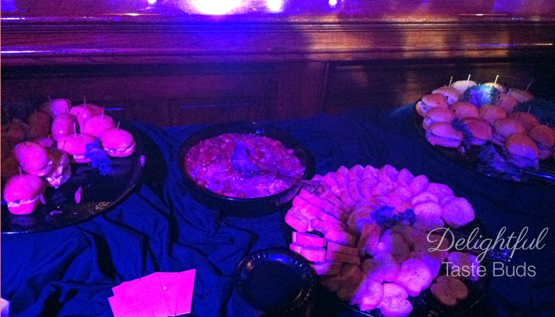 Catered food - I couldn't have any of these. Good thing I ate before I went!