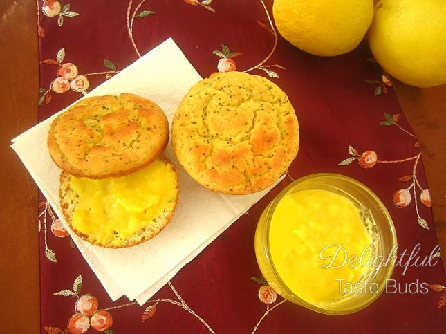 Lemon Curd by Jos served with Low Carb Melt-In-Your-Mouth Lemon 'Chiffon' Poppy Seed Cake by Debby