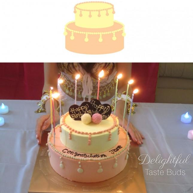 The bakery did such a great job accommodating my custom cake design..haha!