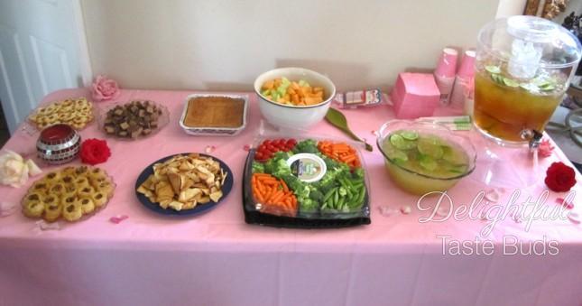 Sweets table (plus the veggie platter)