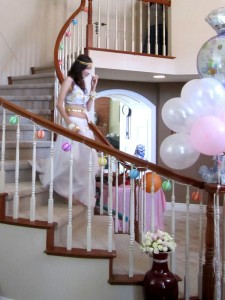 Here comes the Bride :)) She looks SO CUTE in that outfit!