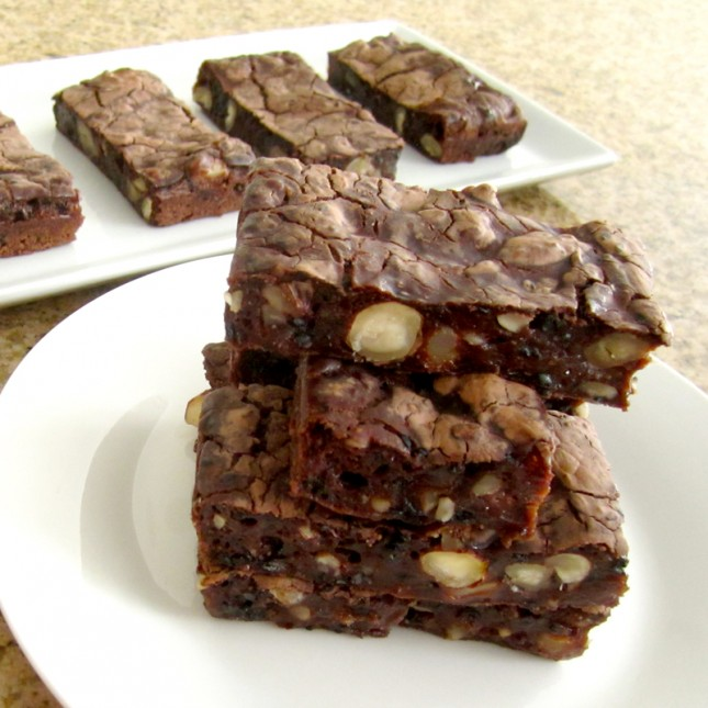 In a glance, these look just like regular brownies :)