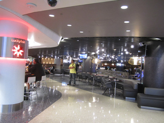 A fancy restaurant at LAX. This was after passed the security point. Not too shabby.