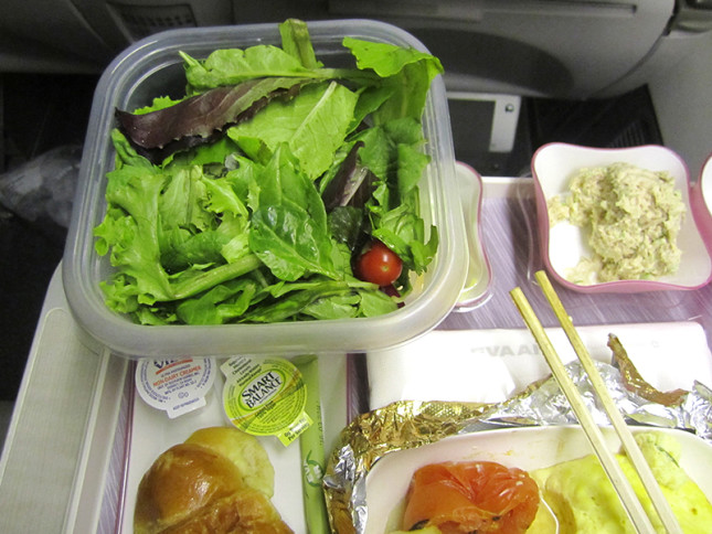 I needed more veggies so I opened my packed spring mix veggie salad