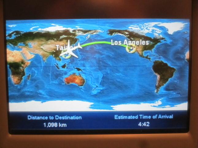 Los Angeles - Taipei flight