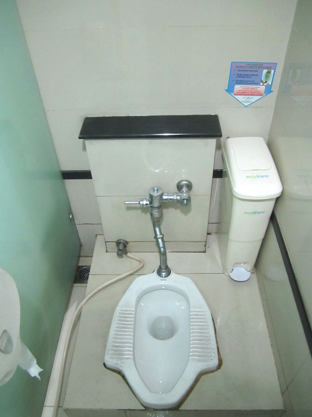 squat toilet at a public restroom.
