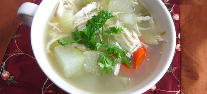 Hearty Winter Melon Chicken Soup