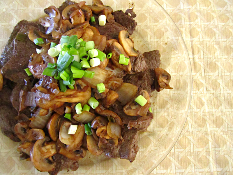 Image result for beef and green onions with Mushrooms